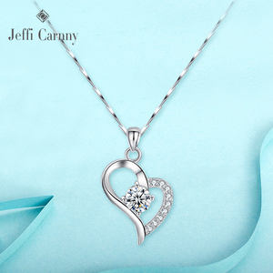 Electroplating Sterling Silver of copper heart pendant necklace Diamond Jewelry Jewellery Pendant Necklaces