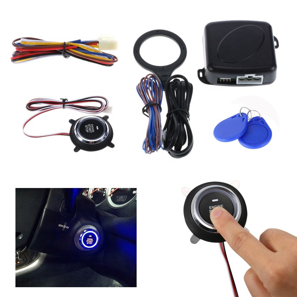 Smart Pke Rfid Start Stop Taste 2020 RFID Motor Lock Zündung Starter Auto Alarm Security Anti-theft System Fernbedienung control