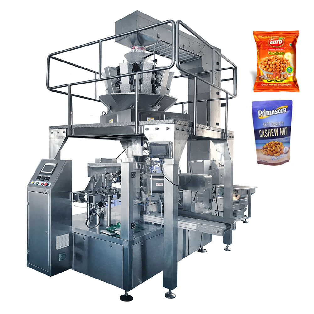 Automatic doypack package food dry nuts snack packaging cashew nuts snack packing machine coated peanut packaging machine