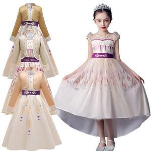 Halloween Cosplay Girls Princess Dress Party Elsa Dress Carnival Frozen 2 Elsa Anna Princess Fancy Dress Kids Costume