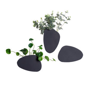 Black Square Wall Hanging Dried Flower Vase Home Wedding Party Wall Decoration Iron Flower Container for Living Room HD-0543