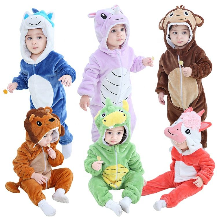 MICHLEY New Design Boys Cosplay Baby Romper Girls Winter Kids Halloween Costume