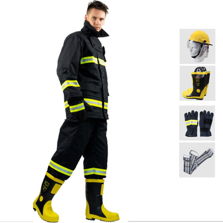 Full Aramid Fire Fighting Suit Ce Approved Firemen Uniform Fire Clothing
