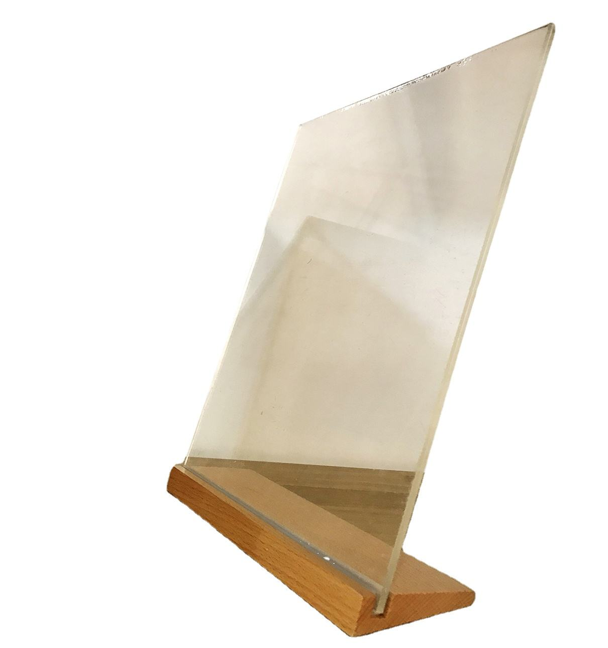 high clear acrylic display stand acrylic sign holders 8.5 X 11
