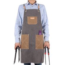 Custom Profession Water Resistant canvas Outdoor Cooking BBQ Apron with adjustable strap