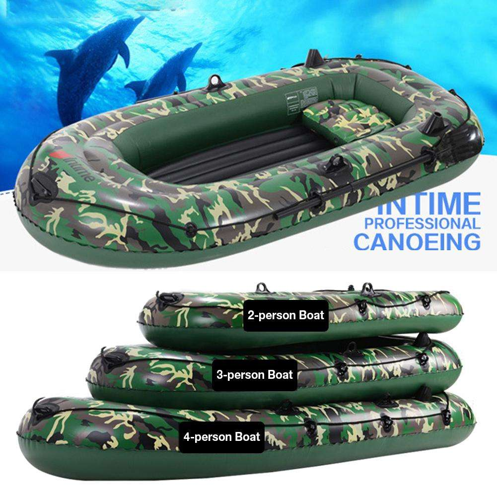 10ft 2/3/4 Person Inflatable Boat Set mit Paddles Air Pump 3-schicht PVC Wearable Kayak Canoe Boat Set für Drifting Fishing