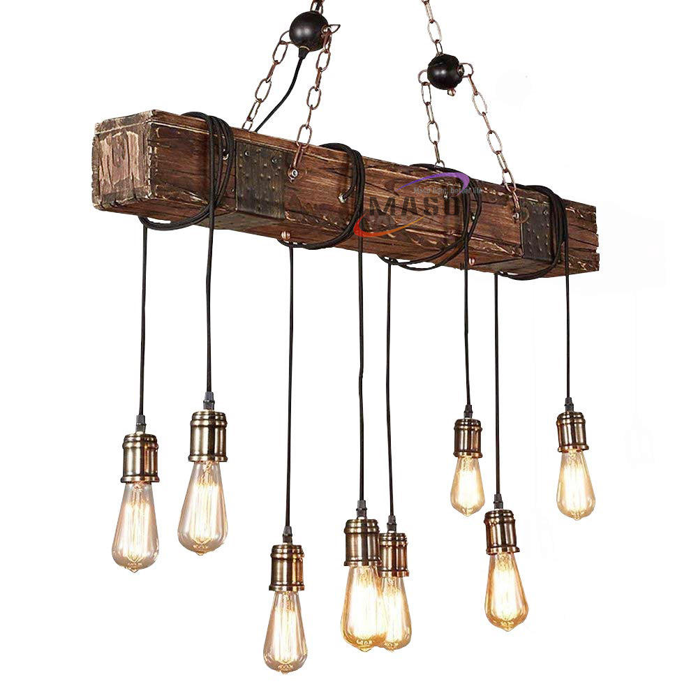 hanging light wood hemp rope chandeliers vintage ceiling lamps classical