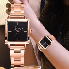 Square Surface Dial Quartz Watches For Women Luxury Simple Stainless Steel Bracelet Woman Watch Fashion Sports Clock Gift
