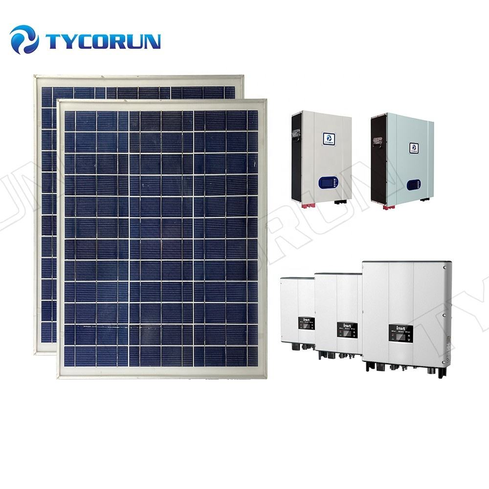 Tycorun 3kw all in one solar energy system 5kw 6kw 8kw 10kw 15kw Grid Tied solar and wind power System with Battery