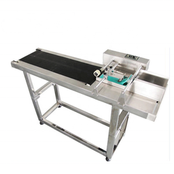 Box Paper Plastic Bag Labeling Adjustable Speed Automatic Conveyor Paging Machine