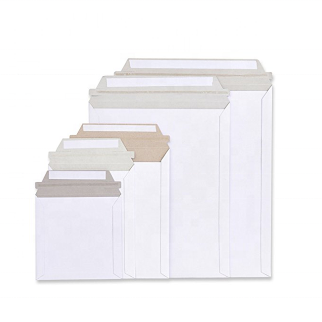 A3/C3 A4/C4 A5/C5 Rigid white cardboard Envelopes Mailing Shipping Rigid paper Envelope with peal & seal