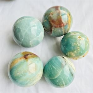 Wholesale natural crystals ball healing stones blue caribbean calcite crystal sphere