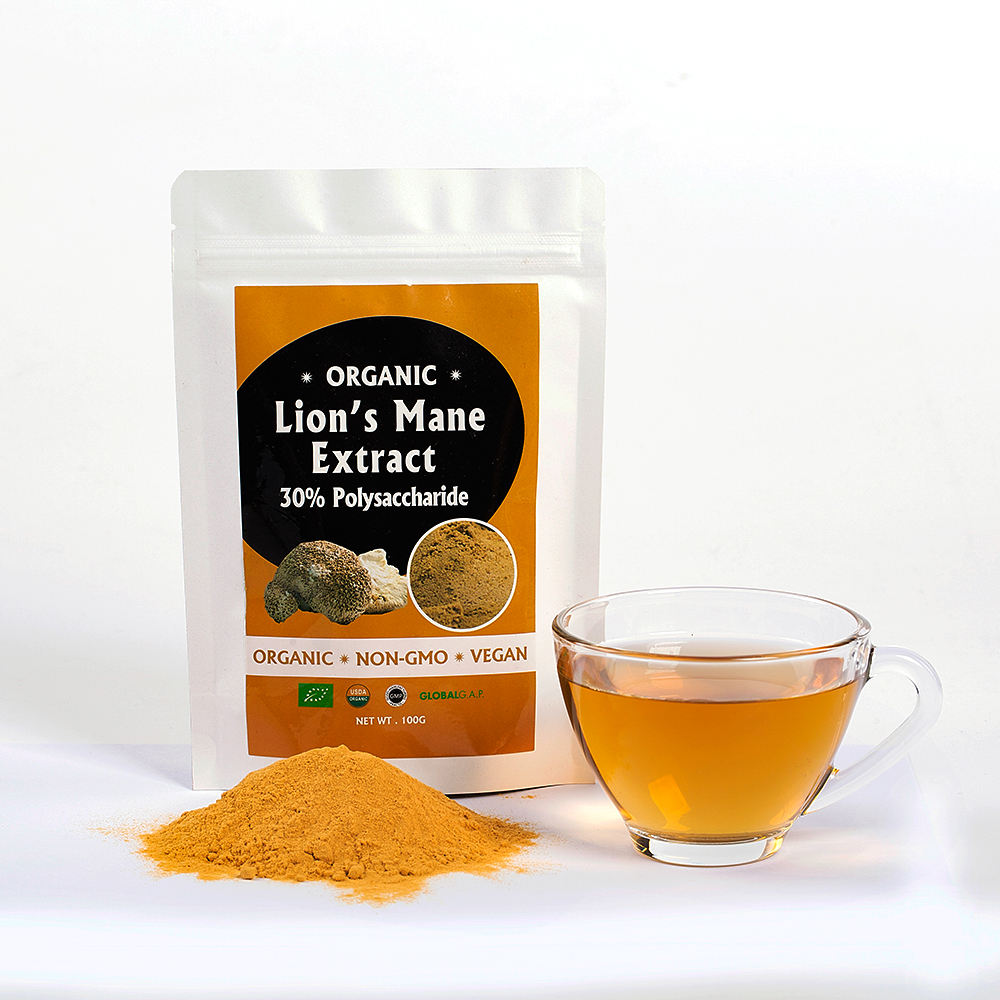 Factory price Organic Lions Mane Mushroom Beta D Glucan Polysaccharide Extract Powder