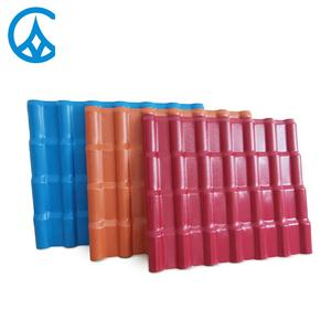 Corrosion resistant corrugated thick plastic resin kerala asa synthetic spanish roof tiles