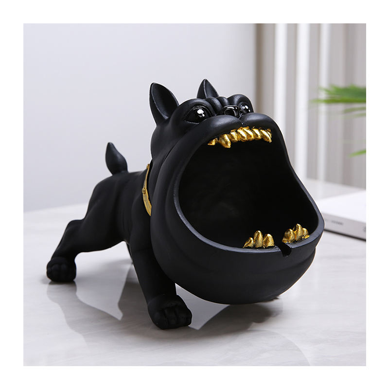 Ceramic home decorate cartoon ashtray large diameter multi-color optional cute creative personality trend