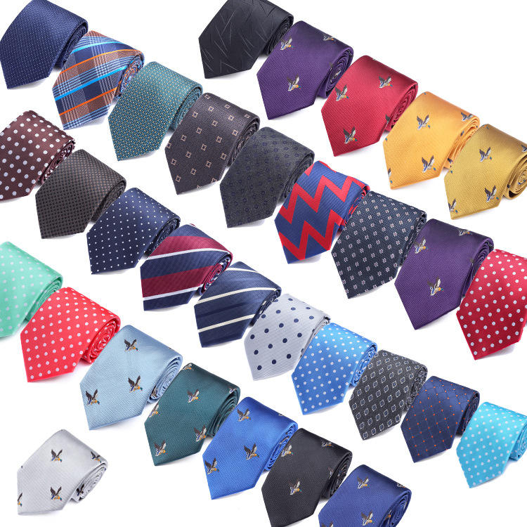 fashion suits animal jacquard polyester necktie accessories for men and business striped and plaid polka dot ties for sale