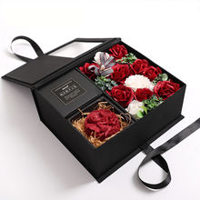 Wholesale small valentines day gifts soap roses preserved rose eternal roses flowers in gift box best gift for girlfriend