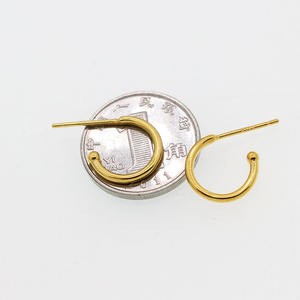 Wholesale 925 sterling silver accessory DIY hoop earrings with needle for jewelry making