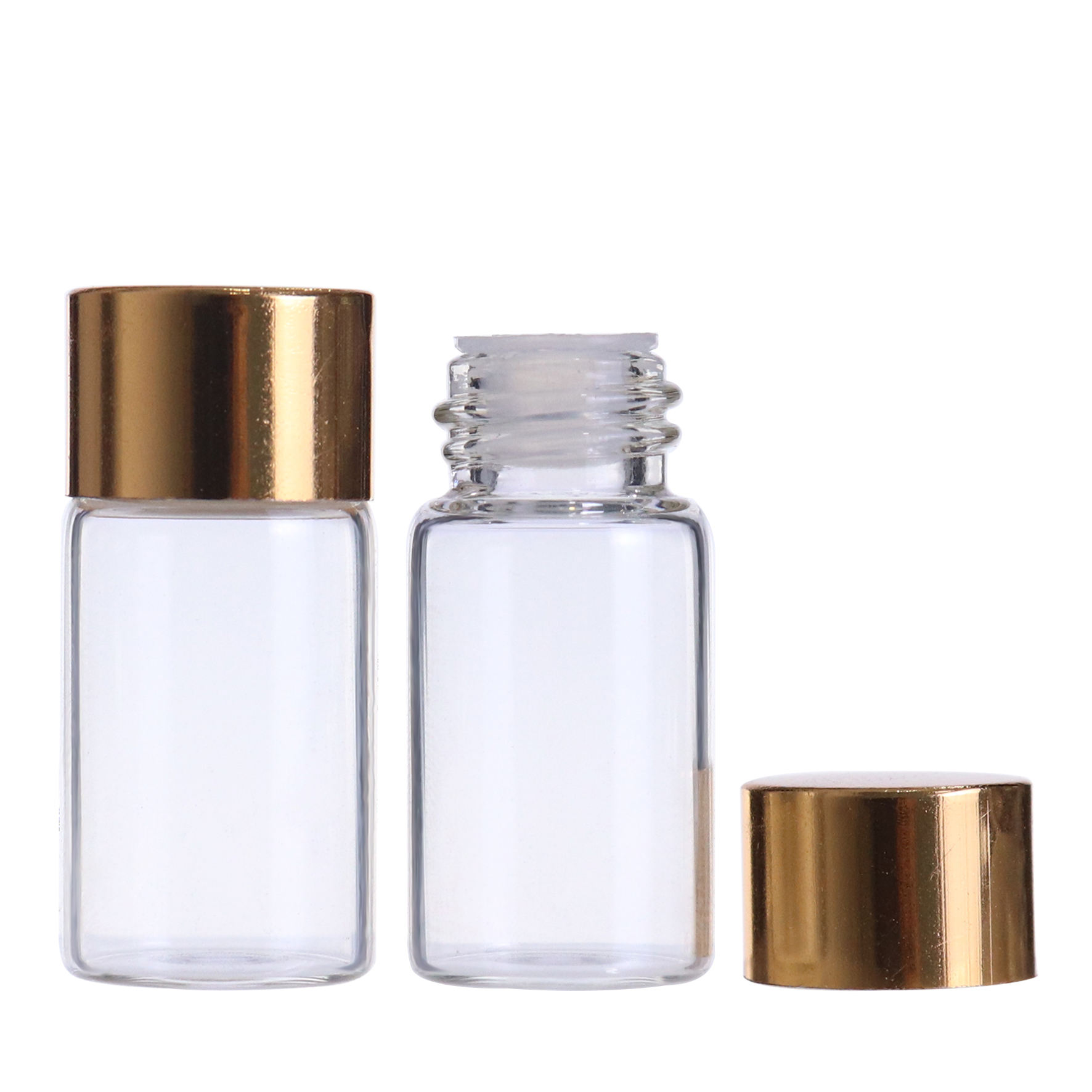 Supply customized amber clear mini round tube dropper glass vial with screw caps tamper