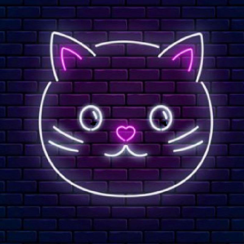 Günstige Katze Kaktus Billard Barber Cocktails Baby Rosa Große Led Neon Zeichen Licht