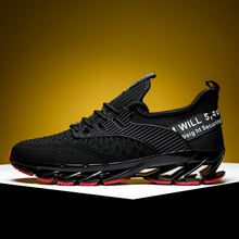 2019 New Outdoor MensJogging Walking Sports High quality Lace-up c Breathable Blade Sneakers Running Shoes for Men