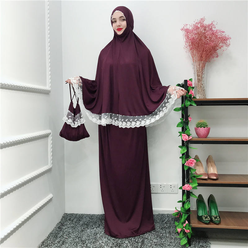 2019 New Design Women Maxi Dresses Long Hijab Dress Ladies Muslim Prayer Abaya Robe Islamic With Hood Race Abaya Praying Dress
