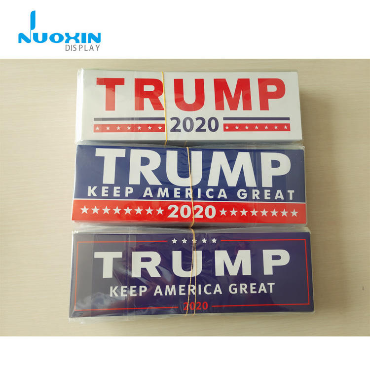 Wholesale 9x3 inch Keep America Great Trump 2020 Car Bumper Sticker For Presidential Election