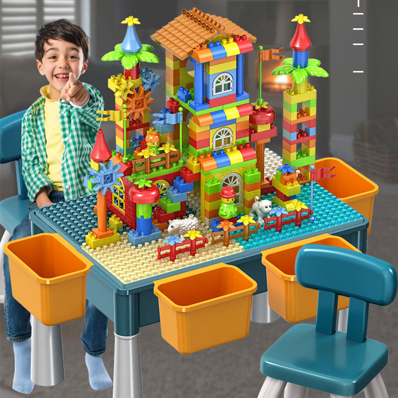 Plastic DIY Multifunctional Learning /Dining/Study/Playing Learning Block Table