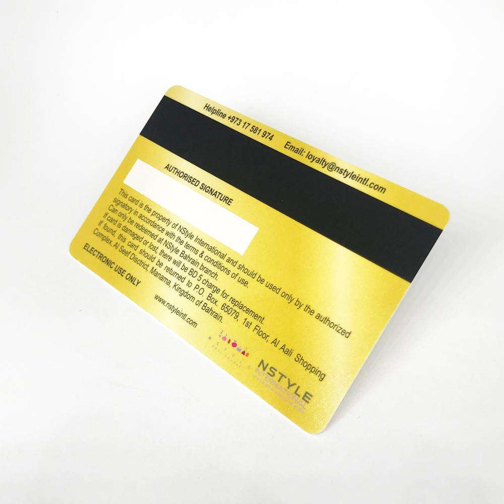 Printable Hi-co Magnetic stripe card with barcode