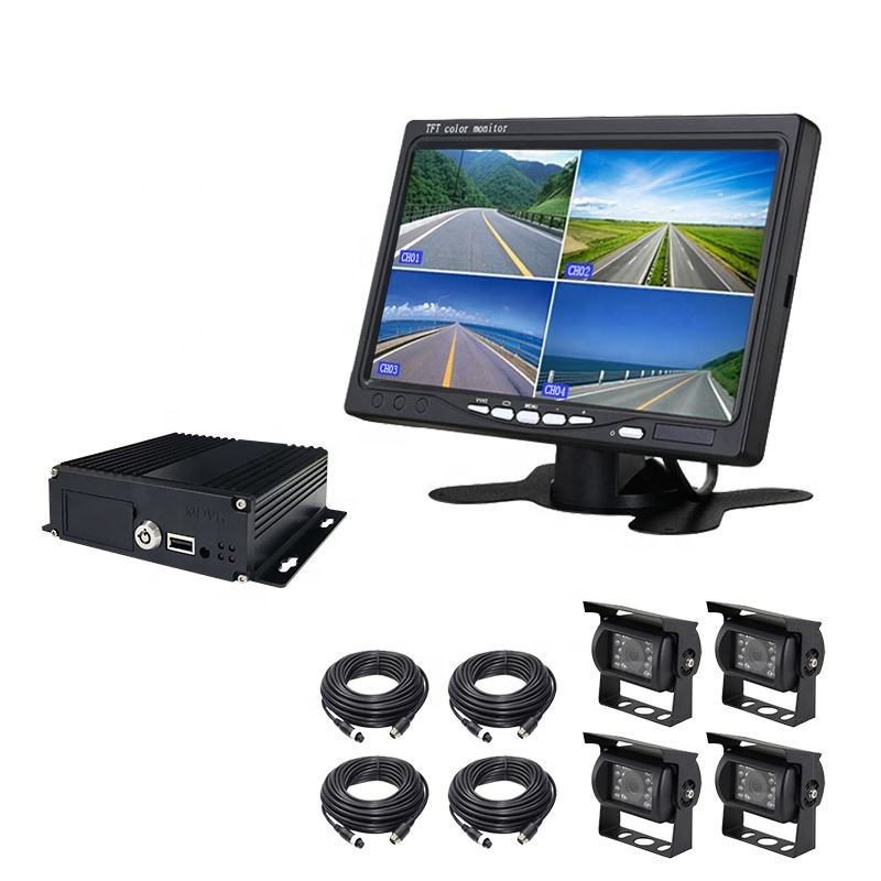 New arrival 2019 1080P 4 channel Mobile DVR with 3G 4G WiFi GPS 4ch dual SD card 8 channel MDVR for car school bus truck