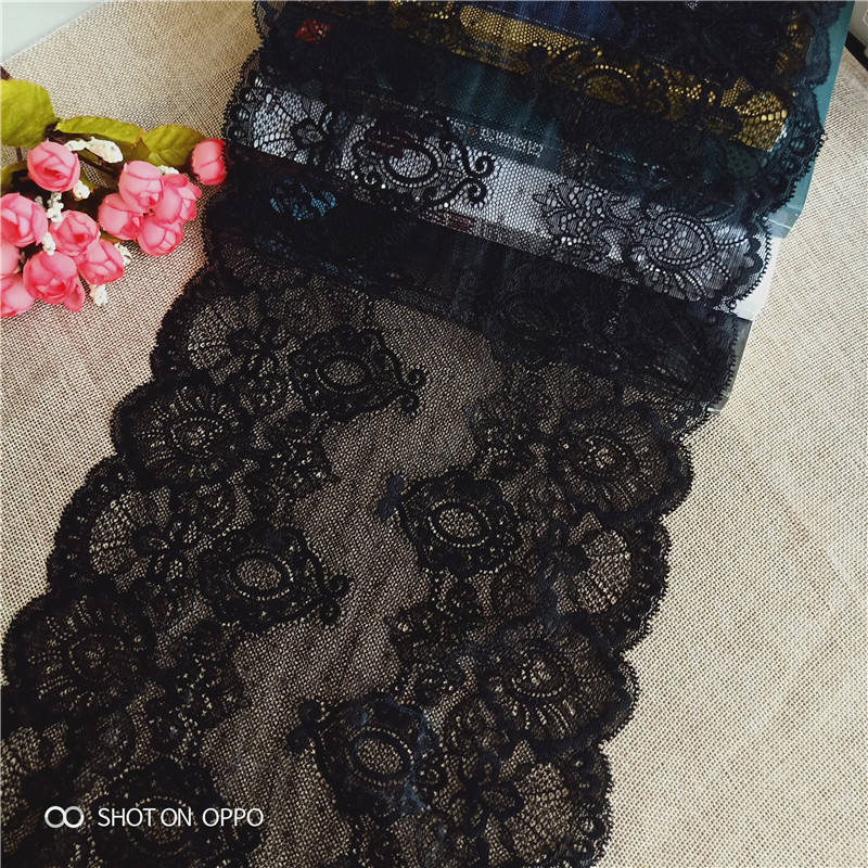3.5 cm wide raffle lace with gold thread and beads dress waistband shoes 1 yard