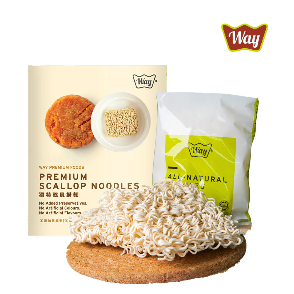 Premium Scallop Instant Noodle Mee Way Sauce Brand Top Ranked Food OEM Manufacturer Ready Shipping Fast Refined Processing Korea
