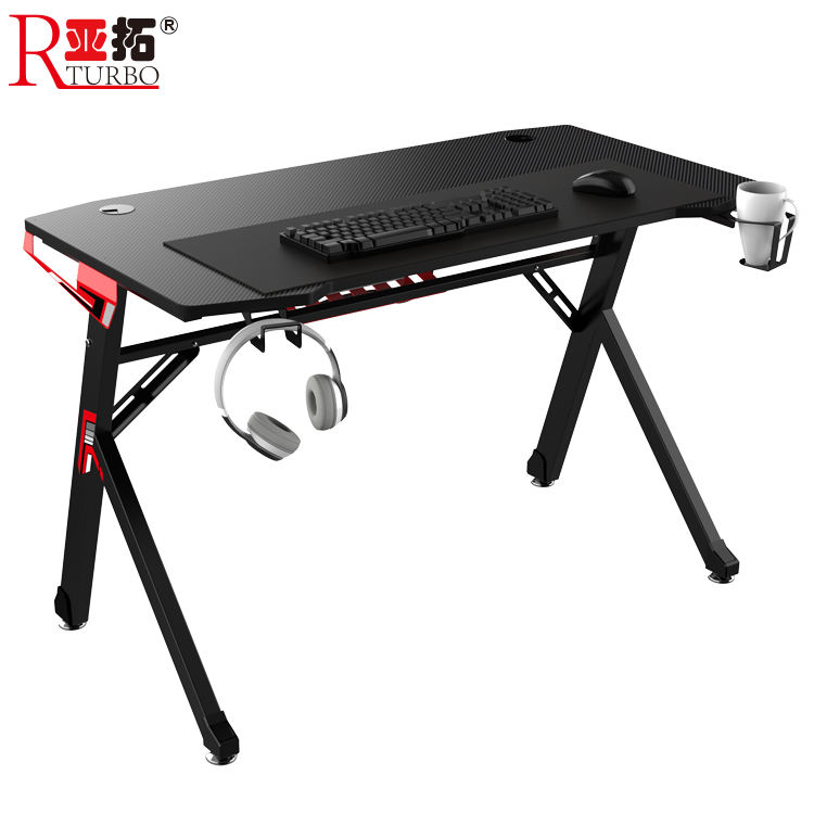 2020 Amazon hot selling gaming desk racing table design office desk for Internet cafe