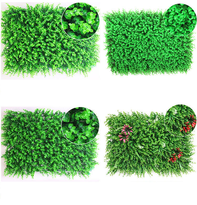 Hot selling fakes plastic leaves background artificial grass wall for decor