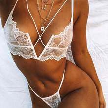 Hot  Womens New Lace Camisole Thong Two Piece Suit
