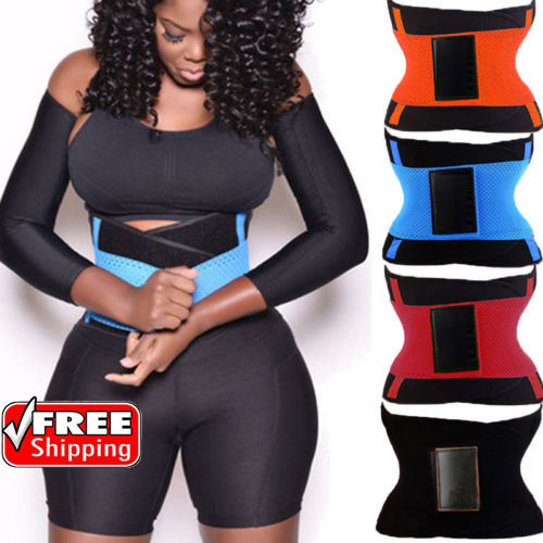Wholesale Slimming Fajas Hot Sweat Sport Girdles Workout Belt for women Body Shapers Waist Trainer Trimmer Free Shipping