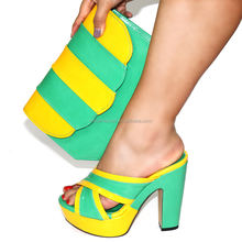 2020 New arrival Formal Women Pump ladies pointed toe High heel shoes and bags set