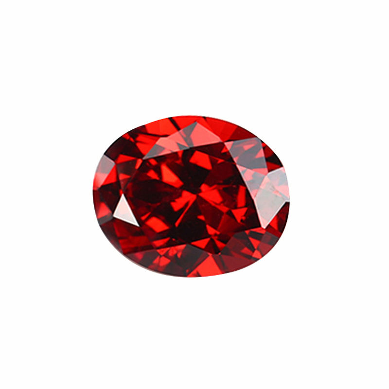 Thriving Gems Hot Sale High Quality Synthetic Loose Gemstones Oval Red Cubic Zirconia Stone