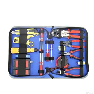13pcs Network Wiring Sets RJ45 RJ11 BNC Cable Continuity Tester Stripping Plier Tool Kit NF-1508