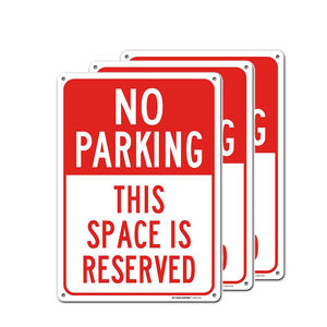 Reflective aluminum no parking sign board