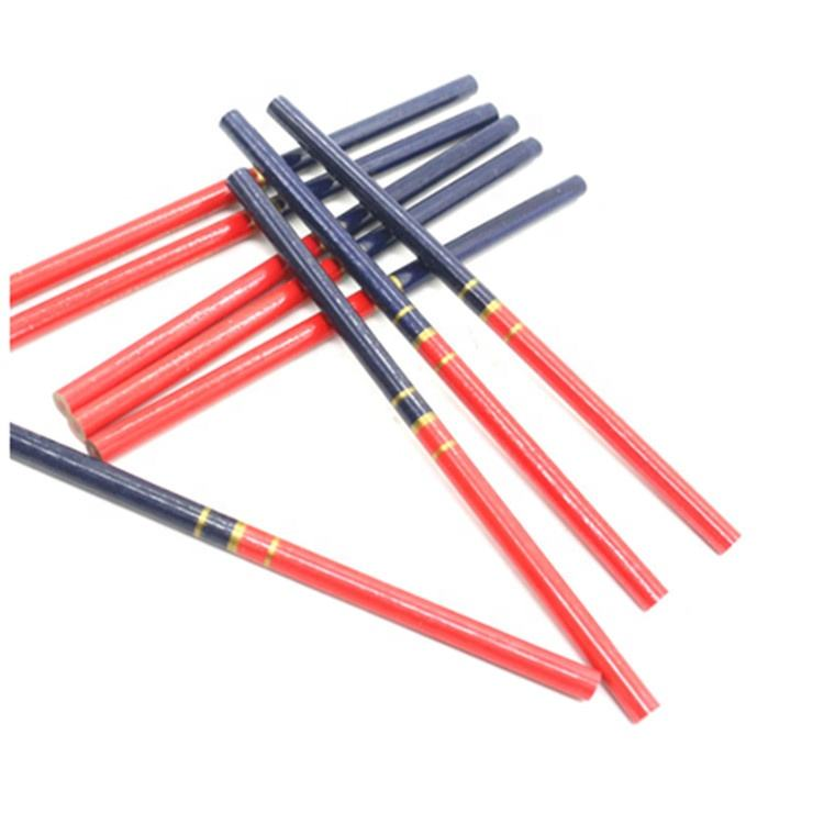 Macostone Double Color Red and Blue Wooden Carpenter Pencil