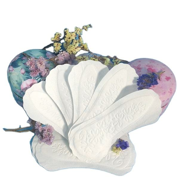 Fan-shaped disposable non woven panty liner ultra thin wingless cotton panty liners