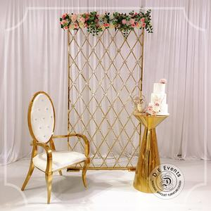 Gold stainless steel wedding backdrops panel decoration dividers for events in wedding supplies
