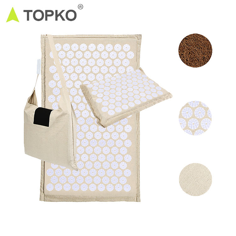 TOPKO Back Pain and Neck Pain Relief Reflexology Mat - Stress Muscle Relief Improves Sleep Insomnia Acupressure Mat