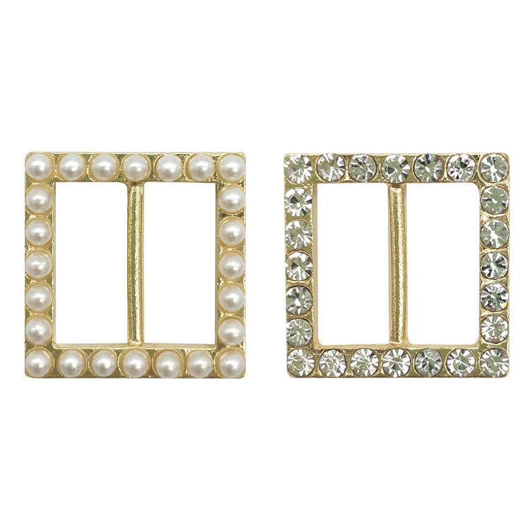 Wholesale high quality customized elegant rhinestone 30mm small belt buckle for dress/coat decoration