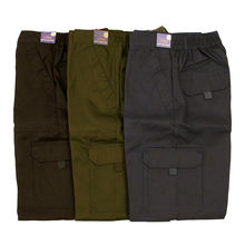 Wholesale Men's Cargo Trousers Outdoor 6 Pocket Safety Cotton Twill Cheap Working Pants