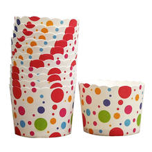 customize Food grade Cake Cup Paper Bakery Cups heat resistant muffin paper baking cake cup
