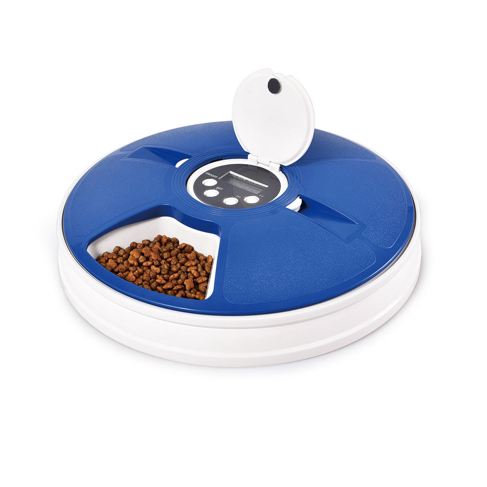 Automatic Pet Feeder for Medium Small Cat Dog, 6 Meals Trays Automatic Timing Pet Dog Food Dispenser Feeder