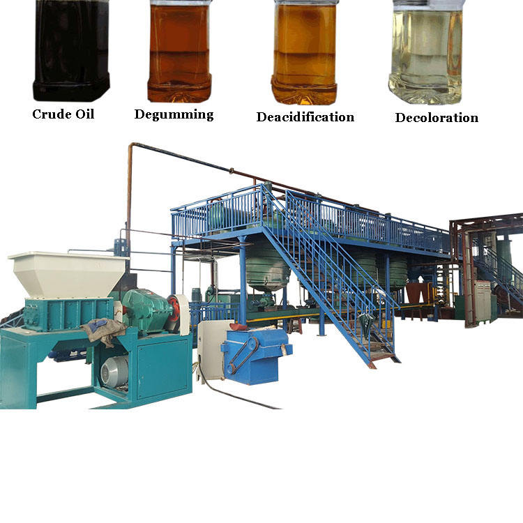 Sunflower seeds oil extraction machine sesame peanut oil refining plant
