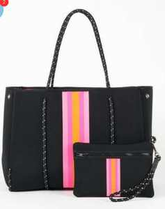 neoprene handbags new design with striped